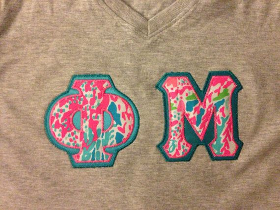 vneck sorority letter shirt with new lets by personalizedsunshine 3699