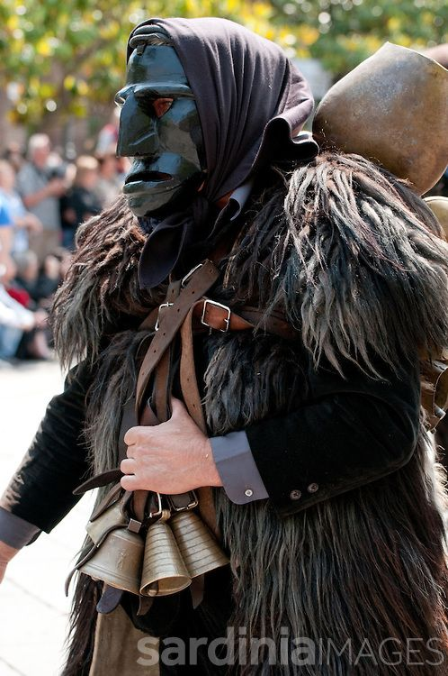 Mamuthone, traditional carnival costume of Mamoiada, Sardinia
