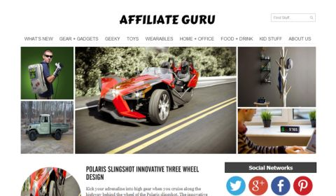 Affiliate Guru WP Theme to Earn Affiliate Money by Product Recommendation and Review Writing