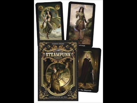 Steampunk Tarot by Barbara Moore: a card-by-card feature by Tarot Zamm. Where the past and future converge . . . With a turn of the wheel and a spin of the c...