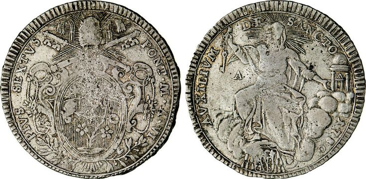 NumisBids: Numismatica Varesi s.a.s. Auction 65, Lot 291 : ANCONA - PRIMA REPUBBLICA ROMANA (1798-1799) Scudo 1780 (1799). ...