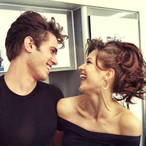 "Melissa Benoist & Blake Jenner as Sandy and Danny in ""Glease"""