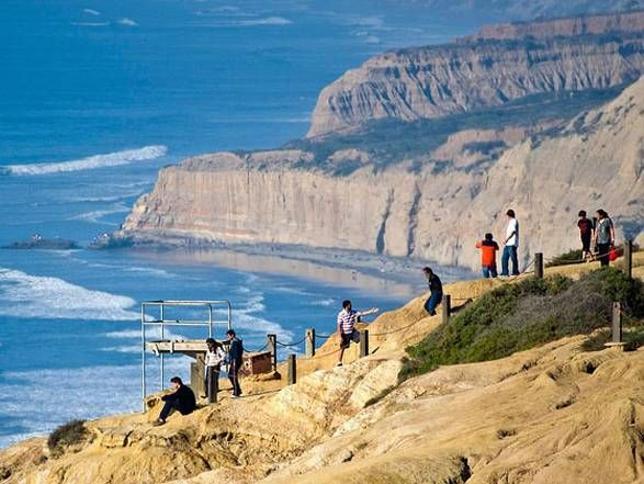 Hike @ Torrey Pines State Reserve in La Jolla: Guy Fleming Trail for ocean views or Broken Hill Trail for more dramatic hillside view