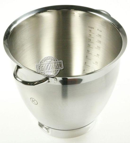 Ciotola Tazza Contenitore in Acciaio Inox con Manici Originale per Kenwood Chef Sense XL KVL60x - http://www.complementooggetto.eu/wordpress/ciotola-tazza-contenitore-acciaio-inox-manici-originale-kenwood-chef-sense-xl-kvl60x/