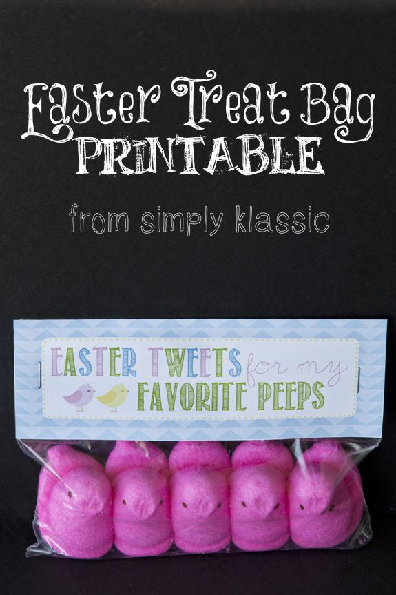 Easter Tweets for My Favorite Peeps Gift Idea with Free Printable Tag - perfect for school friends and teachers! www.simplyklassichome.com