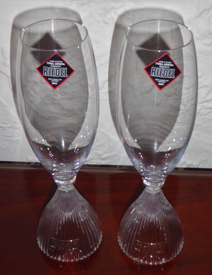 2 Riedel 2002 Tyrol Crystal Hourglass Champagne Flutes Wine Glasses Tumblers #Unbranded