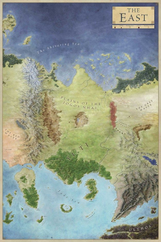 The East map for Game of Thrones