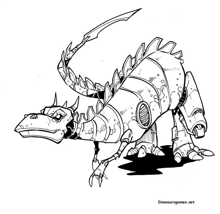 You can download or print now this ROBOT DINO COLORING ...