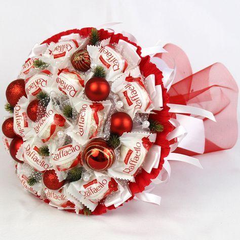 Букет из конфет новый год
