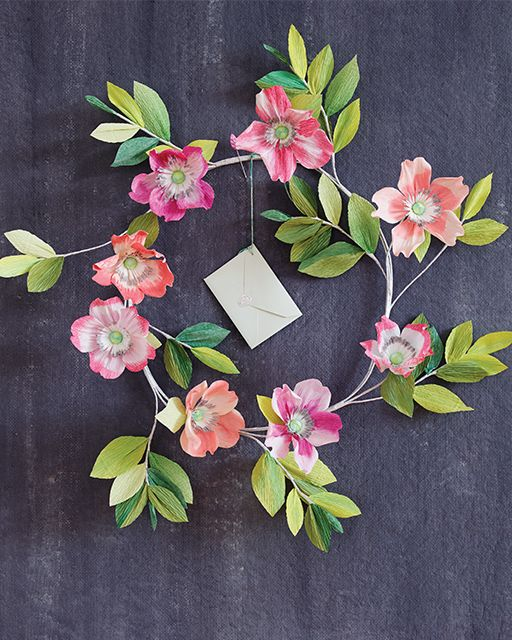 Flower Paper Wreath DIY