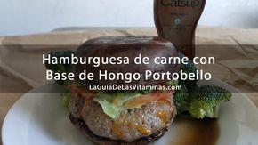 Hamburguesa de carne con base de hongo portobello