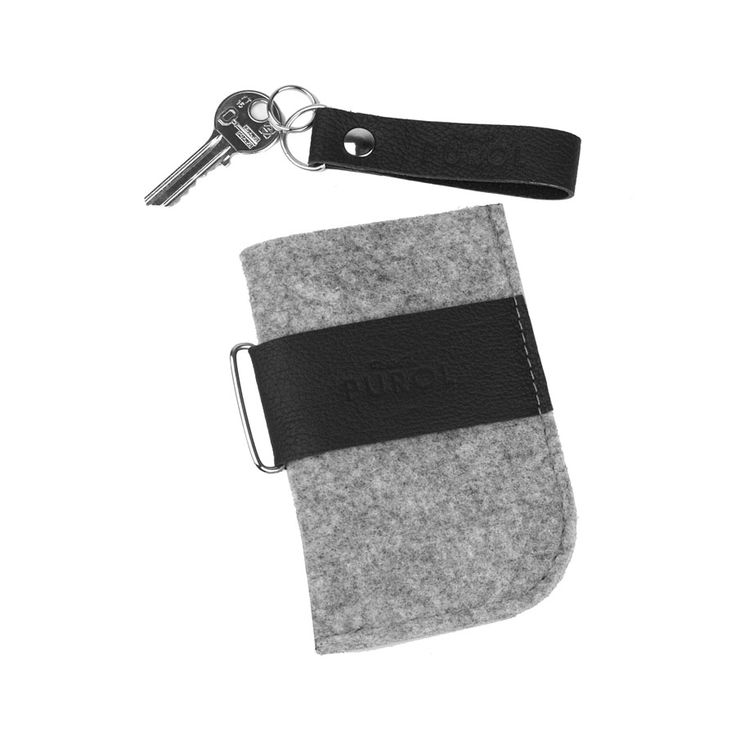 ETUI Z FILCU NA TELEFON 04 #phonecover #cellphone #case #felt #gray #black