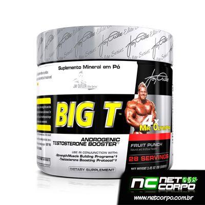 BIG T foi desenvolvido para suprir a necessidade de quem deseja aumentar a testosterona de forma natural. Este suplemento, elaborado juntamente com o Jay Cutler,  visa atender atletas / fisiculturistas que desejam aumentar a massa muscular e elevar os treinos a um nível máximo.