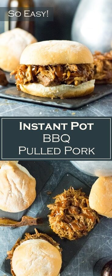 Instant Pot BBQ Pulled Pork Recipe - Easy via @foxvalleyfoodie