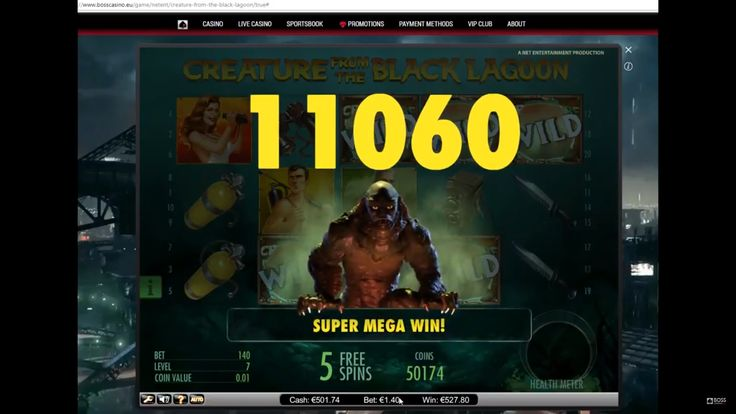See the player killing the creature in this video-review!  It is quite understandable why Creature from the Black Lagoon NetEnt slot is so popular. A special Wild symbol can appear anywhere on the playing field. As you use a free spins symbol, you gain some good chances of getting a big win.  Win in the casino