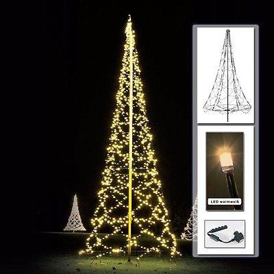 Fresh Lichterkette f r Fahnenmast m k nstlicher Weihnachtsbaum LED warmwei