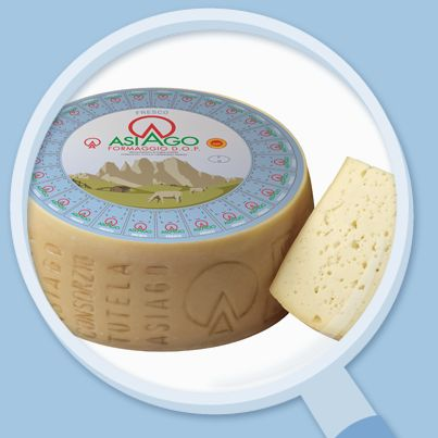 Il formaggio #Asiago fresco lo riconosci alla vista presenta la marchiatura Asiago sul bordo della forma.