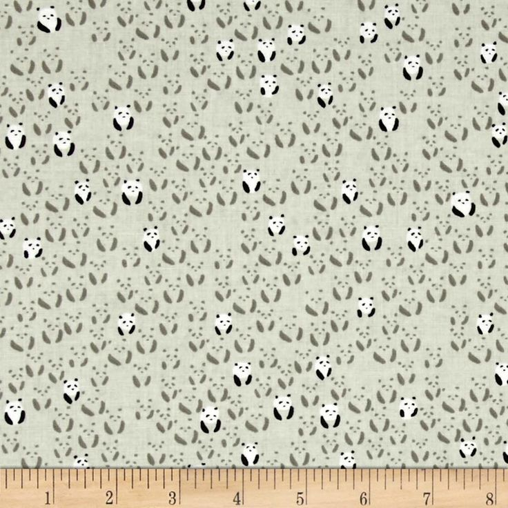 Cotton + Steel Black and White Panda Bebe Natural from @fabricdotcom  Designed by Alexia Marcelle Abegg for Cotton + Steel, this cotton print is perfect for quilting, apparel and home decor accents. Colors include natural, beige, black and white.