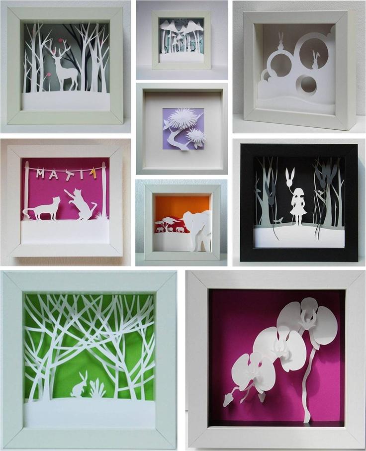 Cuadros 3d quadros pinterest - Ideas para forrar una pared ...