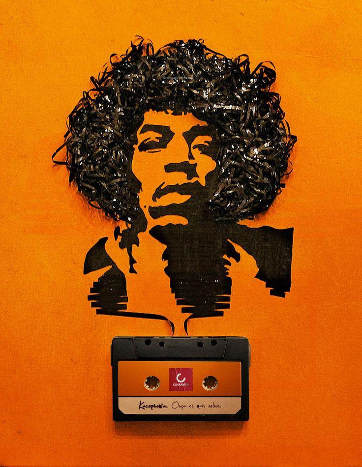...Music, Iris Simmons, Inspiration, Erika Iris, Cassette Tape, Jimi Hendrix, Tape Art, Graphics Design, Jimihendrix