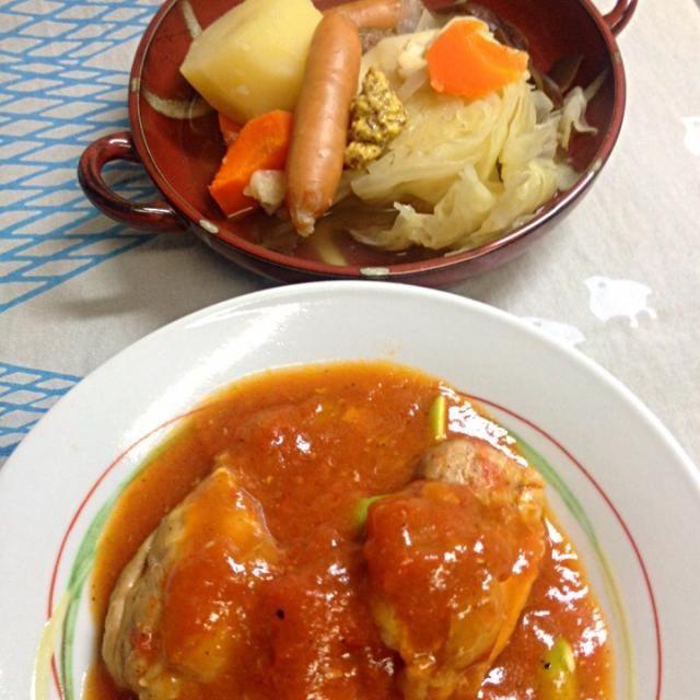昨日の湯豆腐の昆布だしにコンソメを入れてポトフ - 14件のもぐもぐ - 和風ポトフと鶏肉トマトソース by chacoken