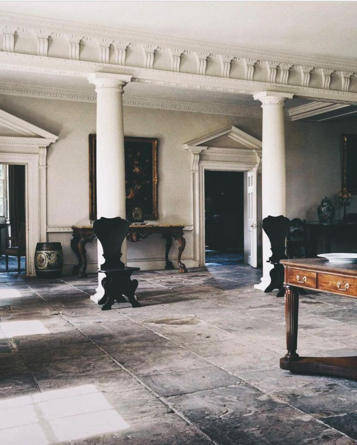 The entrance hall at West Horsley Place. World of Interiors, September 2015.