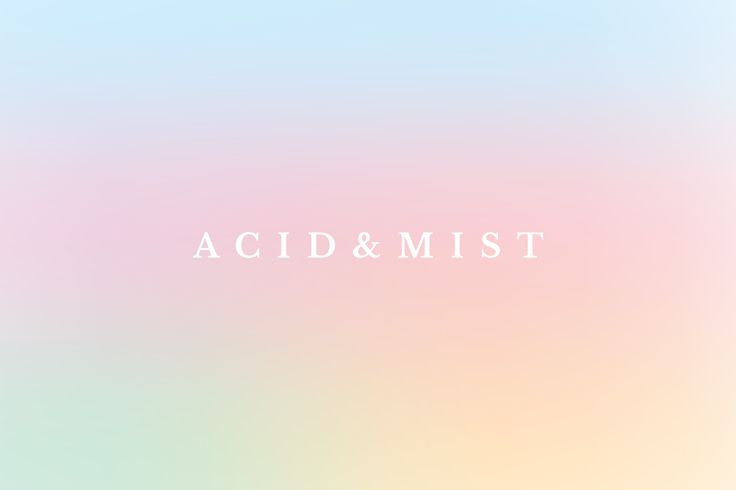 "Brand Identity for Acid & Mist by Ivona Kulinska ""Acid & mist is a place where color meets intense acid and delicate mist. Countless inspiration in one place."" Ivona Kulinska is a visual & interaction designer specializing in branding, web/ui/ux &..."