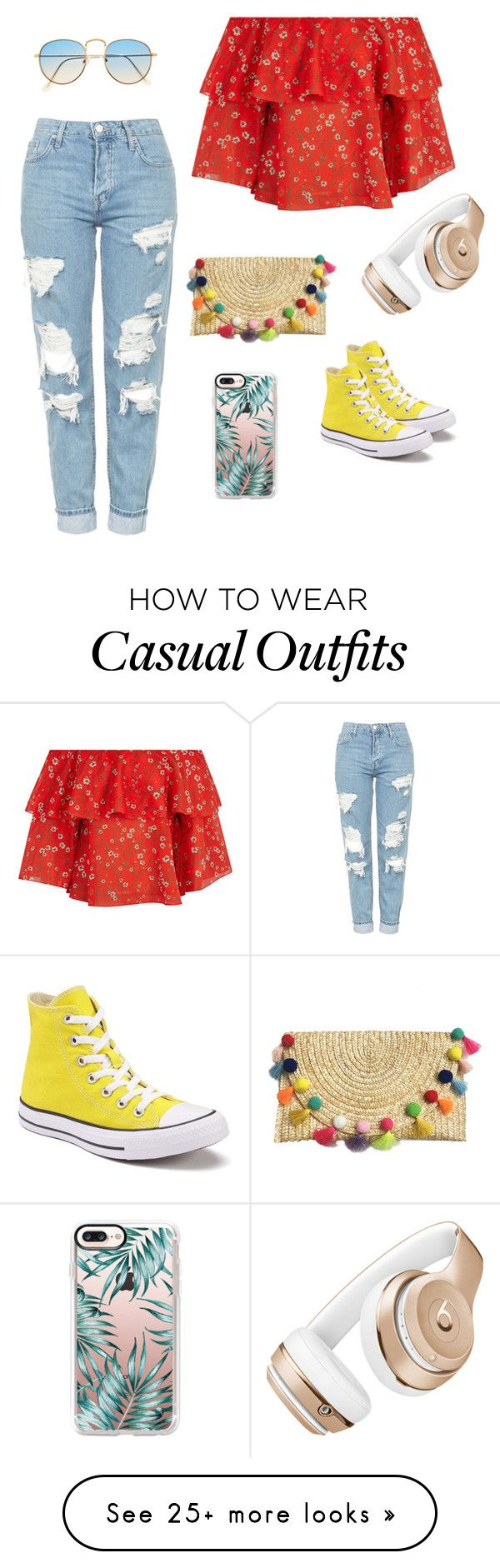 """""""Classy & Casual"""" by ballrebca on Polyvore featuring Alice + Olivia, Topshop, Converse, Beats by Dr. Dre and Casetify"""