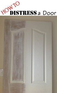 DIY: How To Weather Or Distress An Old Door - very easy tutorial explains how you can get this weathered, shabby chic look just by sanding your doors!