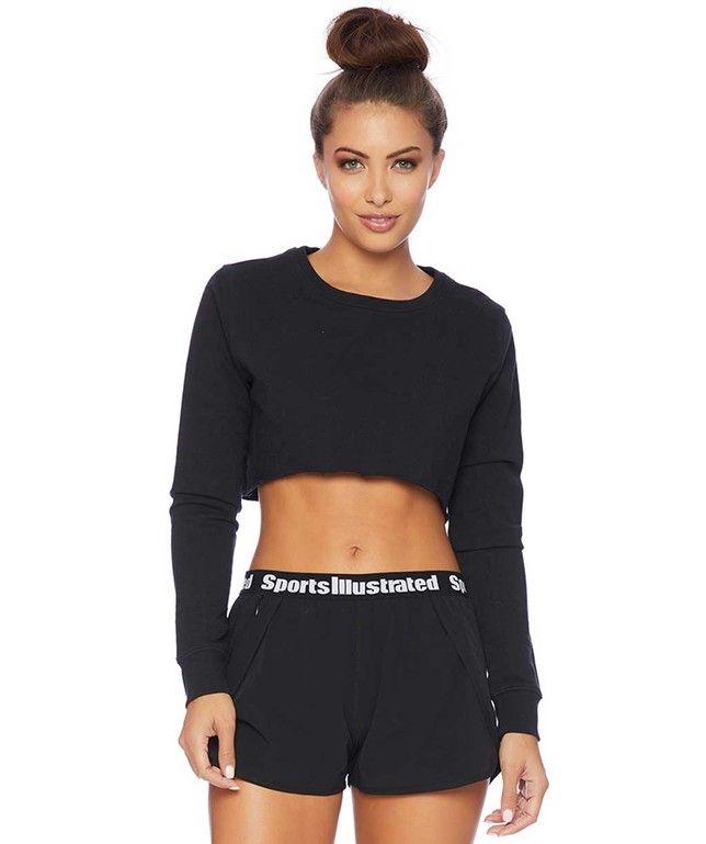 Sports Illustrated Cropped Sweatshirt  #sports  #swimwear http://www.planetgoldilocks.com/swimwear #swimsuit #fashionstyle  #fashion