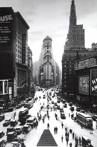 Times square new york city vintage black and white photography poster print 24 by kitchen