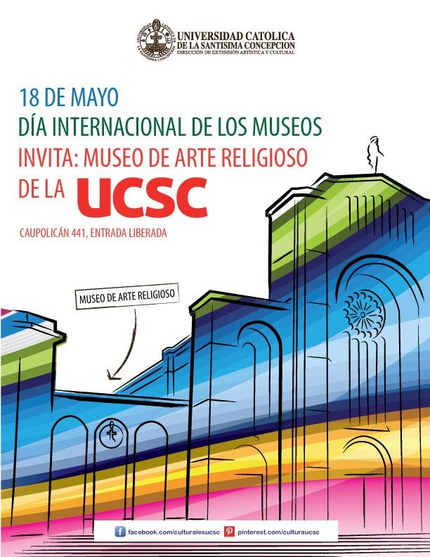 DÍA INTERNACIONAL DE LOS MUSEOS. Sábado 18 de mayo horario continuado de 10.00 hrs. a 18.00 hrs. Caupolicán 441, entrada liberada.