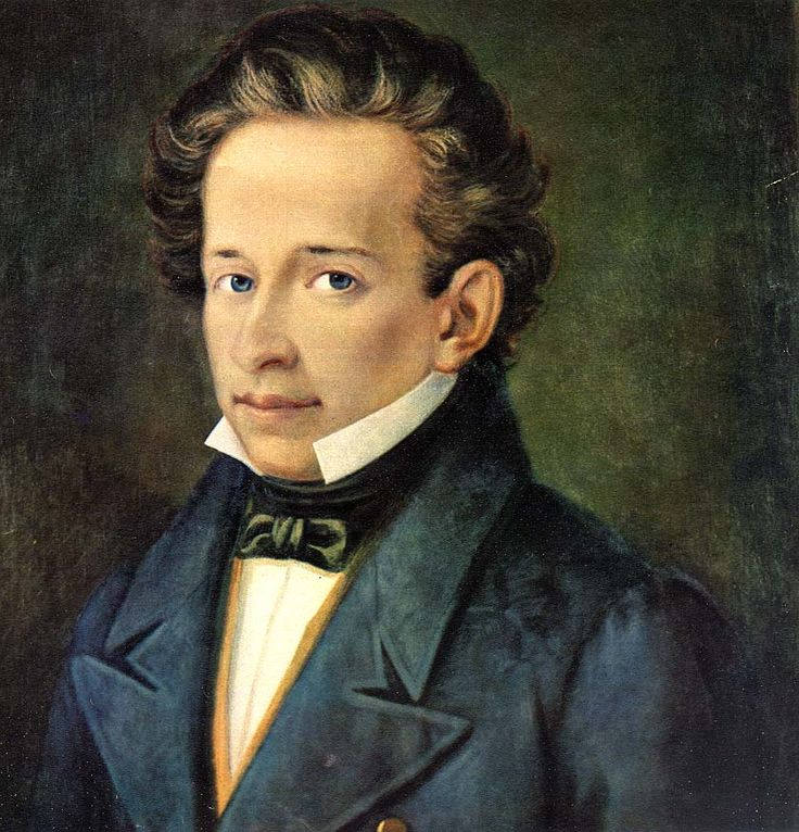 A. Ferrazzi, 'Portrait of Giacomo Leopardi', ca. 1820, Casa Leopardi, Recanati. Leopardi was an important Italian poet of the early 19th century. He was a very lonely person whose work is imbued with a strong sense of melancholy and pessimism