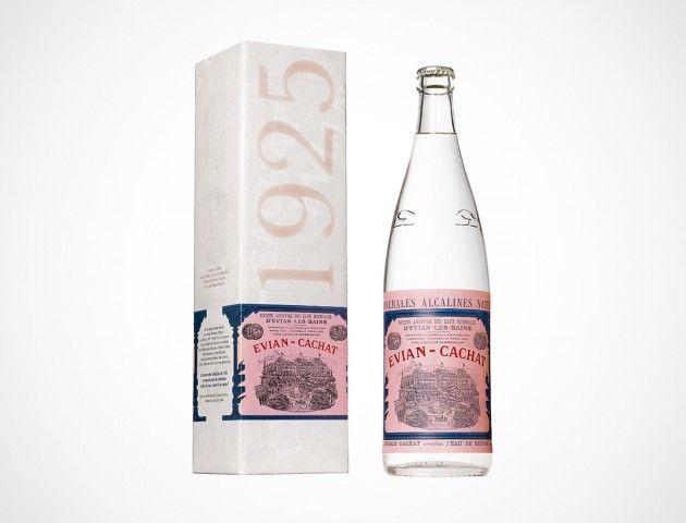 Evian Throwback Vintage Bottle from 1925