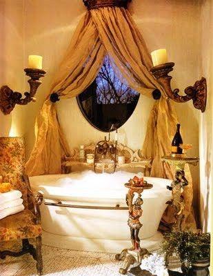 💚BathtubWindows Covers, Gorgeous Bathroom, Dreams Bathroom, French Country Style, Bubbles Bath, Bathroom Ideas, Windows Treatments, Master Bathroom, Country Bath