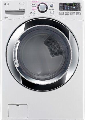 """LG DLGX3371W 27"""" Gas Dryer with 7.4 cu. ft. Capacity in White - http://www.majestyappliance.com/lg-dlgx3371w-27-gas-dryer-with-7-4-cu-ft-capacity-in-white/"""