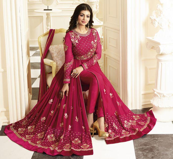 #Pink #Royal #Embroided #Anarkali #Suit
