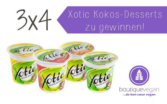 3x4 Xotic Kokos-Desserts zu gewinnen!