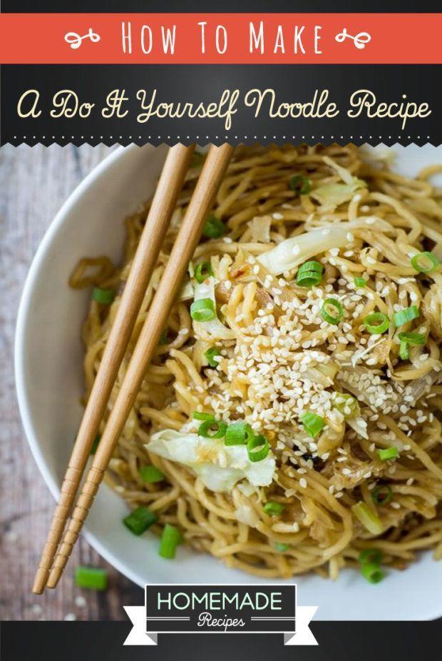 Homemade Asian noodle recipe. | http://homemaderecipes.com/quick-easy-meals/how-to-make-homemade-noodles-recipe/