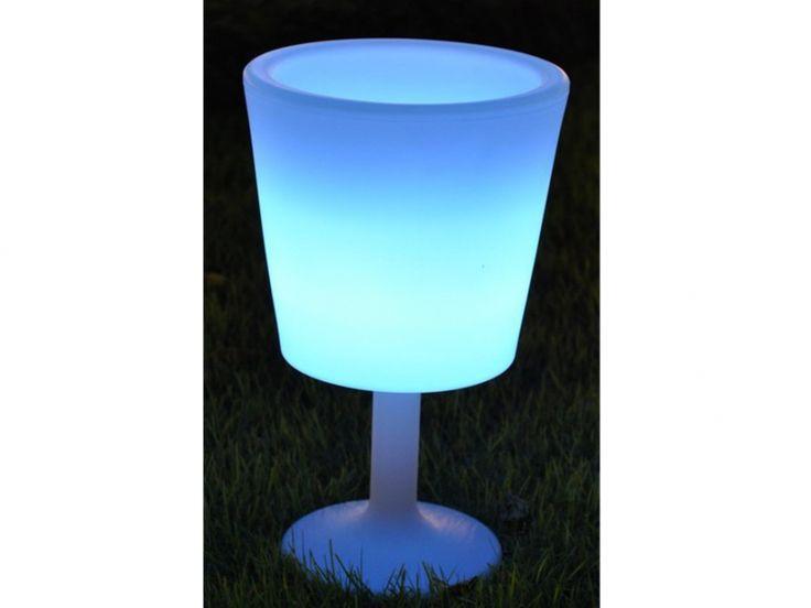 Seau à champagne lumineux CAMEO - couleurs changeantes en fonction de la musique - H. 75cm