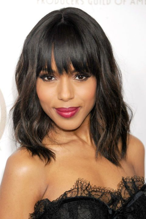 The bob and lob are two of spring's top cuts. See the 36 best celebrity takes on it—here, Kerry Washington.