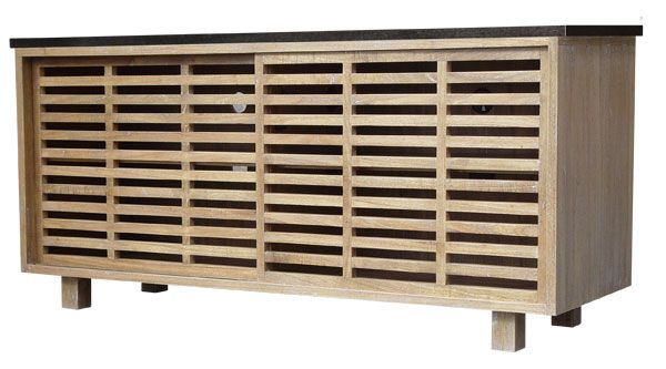 dylan entertainment console  oly studio  like the concept of this -- not the finishDylan O'Brien, Oils Studios, Dark Brown, Entertainment Consoles, Living Room, Dylan Entertainment, Lattice Doors, Sliding Lattice, Granite Tops