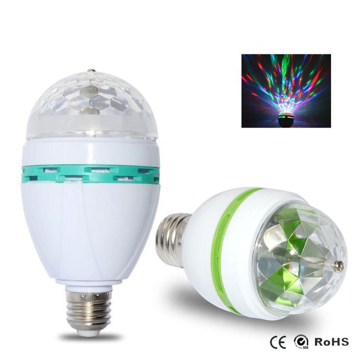 LED Light Bulb E27 3W 6W Disco Light Colorful Auto Rotating //Price: $5.60 & FREE Shipping //     #hashtag1
