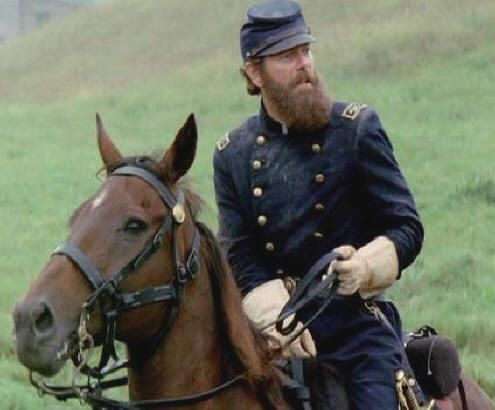 """Thomas """"Stonewall"""" Jackson and his horse Little Sorrel (portrayed by Stephen Lang in Gods and Generals.)"""