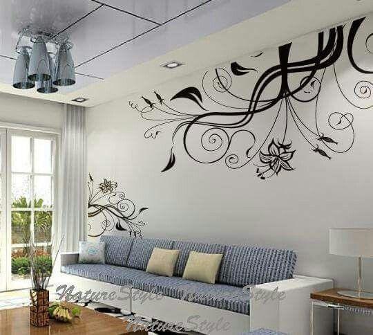 Natuur muurschildering