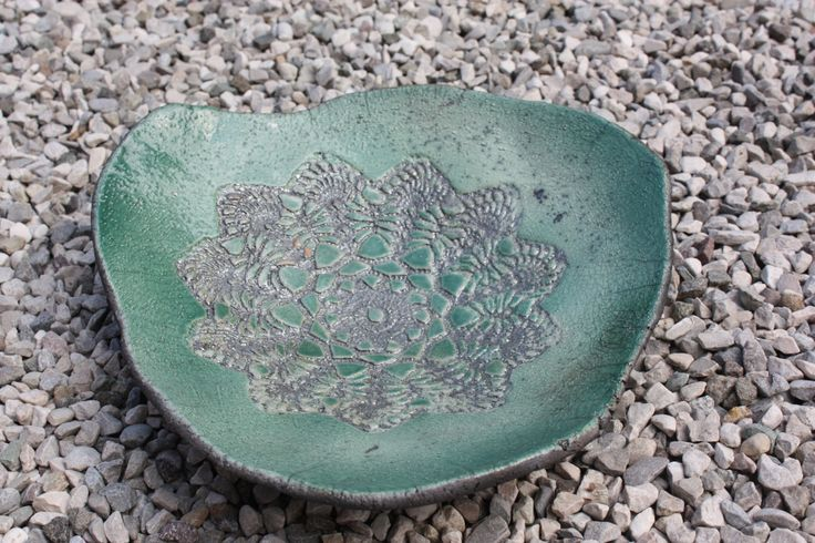 Centrotavola verde con texture