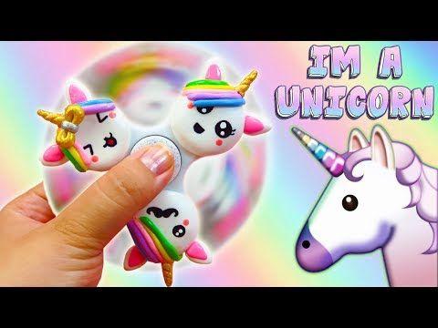 ♥ DIY: Fidget Spinner de Unicornios Kawaii ♥ - YouTube