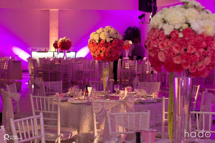 Decoración para boda. Centro de Mesa. Boda en Tepic.