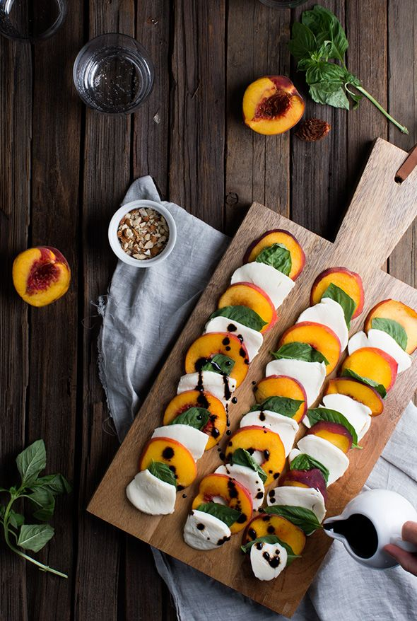 Summer Peach Caprese Salad (Say Yes)