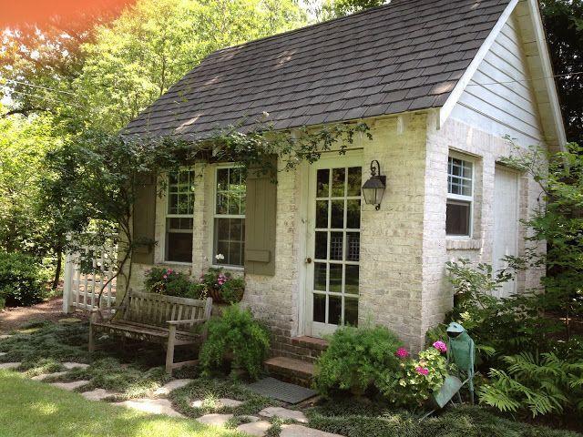 Tiny brick garden house Backyard sheds, Backyard retreat